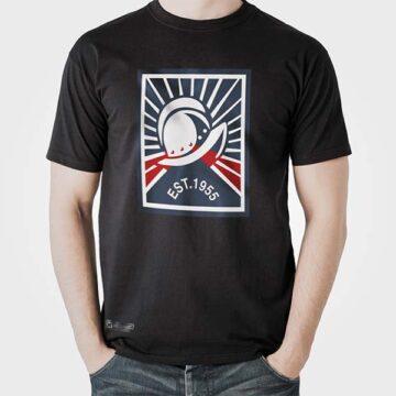 camiseta casco cupertino negra