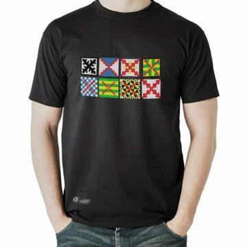 camiseta estirpe imperial bandera tercios negra